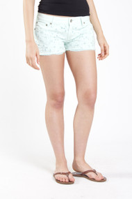 Roxy Lovin Eyelet Short in Moon Light Jade