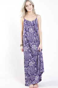 Roxy Still Water Maxi in Astral Aura Batik Floral