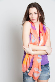 V.Fraas Hot Lips Scarf in Coral