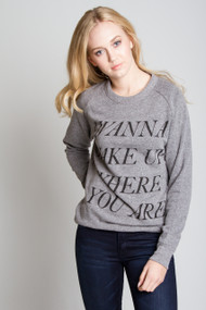 CHRLDR Wake Up Sweatshirt in Heather Grey