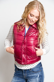 Billabong Stand By Me Vest in Black Cherry