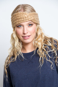 V.Fraas Knit Head Wrap in Camel