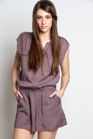 Gentle Fawn Flight Romper in Grey Orchid