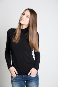 C'est Moi Bamboo Turtleneck in Black