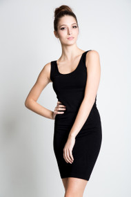 C'est Moi Bamboo Tank Dress in Black