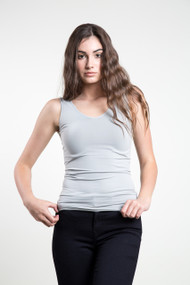 C'est Moi Reversable Tank Top in Silver Grey