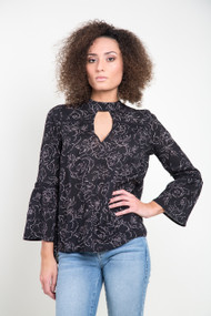 Gentle Fawn Jules Top in Black Camellia