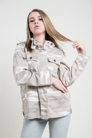 Kersh Safari Jacket in Beige Camo