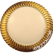 Gold & White Metal Shank Button Style#109