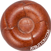 Hand Woven Genuine Leather Button Style #137