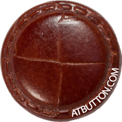 Hand Woven Genuine Leather Button Style #144