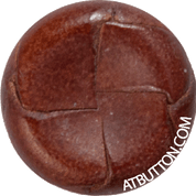 Hand Woven Genuine Leather Button Style #149