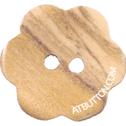 Two Hole Wood Flower Button Style#114