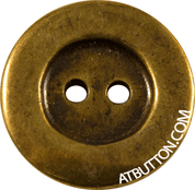 Two Hole Antique Gold Button Style #247