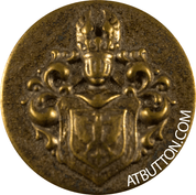 Shield Antique Gold Button Style #276