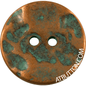 Aged Copper Two Hole Button Style #277