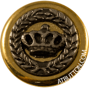 Crown Metal Button Style #278