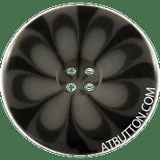 Four Hole Black Plastic Button Style #301