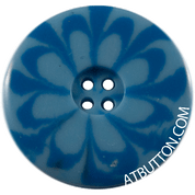 Four Hole Light Blue Button Style #308
