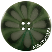 Four Hole Dark Green Button Style #313