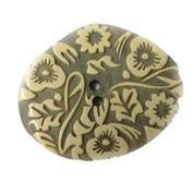 Flower Print Button #355