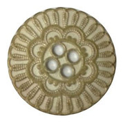 Flower Four Hole Button #385