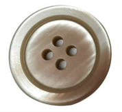 White and Mauve Four Hole Button #399