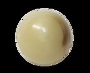 Round Cream and Coffee Shank Button #395