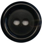 Large Black Plastic 2 Hole Button Style #408