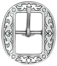 "1""  4010 Floral Stainless Steel Buckle"
