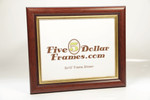 2258 1.25 in Domed Walnut e Gold Leaf Lip Picture Frame