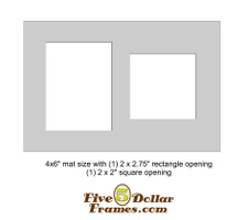 """4x6"""" Matboard - Oval and Rectangular Openings"""