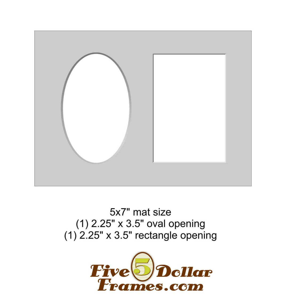 5x7 Quot Matboard Oval And Rectangle Opening Pre Cut To Fit