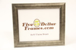 Domed Antique Silver Leaf Picture Frame