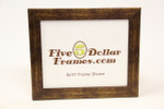 26401 1.25 Gold & Brown Metallic Flat Front Picture Frame