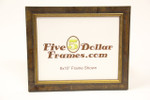 1550-90 1.125 Brown Burl w/Gold Lip Picture Frame
