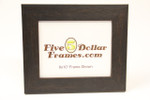 "385-55 2"" Brown Flat Distressed Picture Frame"