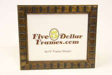 "417-G 1.125"" Antique Gold Square Picture Frame"