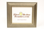 "558-43 2.5"" Antique Silver Ribbed Picture Frame"