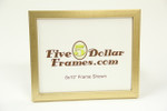 "865-75 .75"" Brushed Gold Flat Canvas Picture Frame"