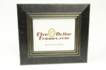 "10288 3.25"" Modern Black and Silver w/Step Edge Picture Frame"