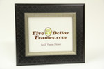 "10142 3.25"" Oxford Design Black w/Silver Picture Frame"