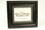 "80297 3.25"" Traditional Espresso w/Gold Detail Picture Frame"