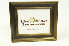 "10137 2.25"" Oxford Pattern Gold w/Black Panel Picture Frame"