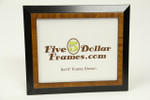 "9642 1.5"" Two Toned Black/Pecan Picture Frame"