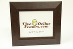 "6096 2.5"" Brown Leather Slope Modern Picture Frame"