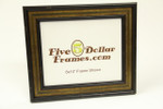 "1370-05 1.75"" Black w/Gold Panel Picture Frame"