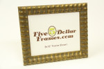 "315415 1.25"" Gold Ribbed w/Gray Rub Picture Frame"