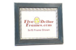 "Blue 42  2"" Distressed Blue Wood Picture Frame w/Silver Accents"
