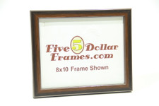 """83301 .875"""" Walnut w/Silver Detail Picture Frame"""